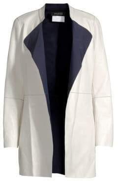 St. John Bonded Leather Reversible Jacket