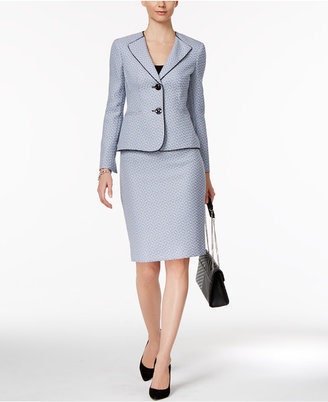 Le Suit Tweed Skirt Suit $200 thestylecure.com