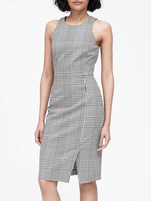 Banana Republic Petite Plaid Bi-Stretch Sheath Dress
