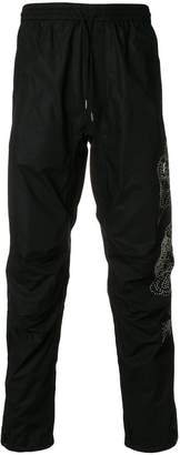 MHI embroidered track pants