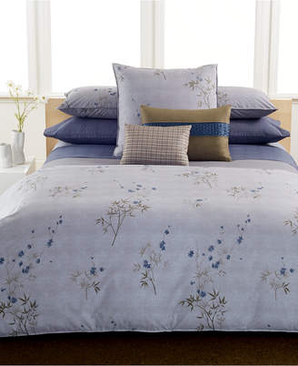 Calvin Klein Pair of Bamboo Flowers King Pillowcases Bedding