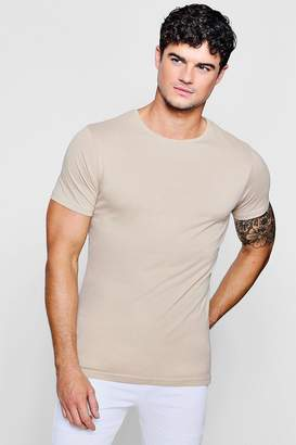 boohoo Curve Back T-Shirt With Centre Seam