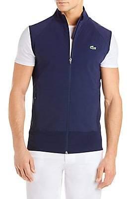 6598bb694a7f Lacoste Men s Golf Colorblocked Stretch Vest
