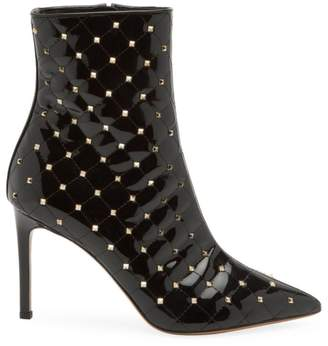 Valentino Rockstud Spike Patent Leather Ankle Boots