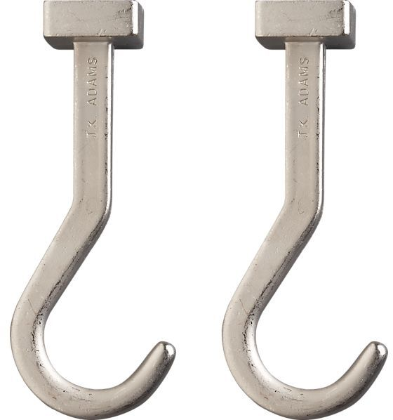 Crate & Barrel Set of two J.K. Adams Pot Hooks.