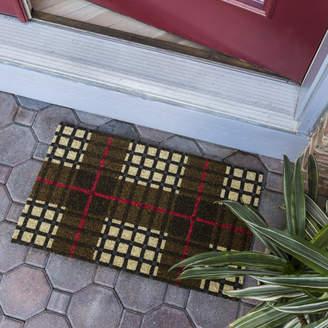 Entryways Sweet Home Plaid Non-Slip Coir Door Mat
