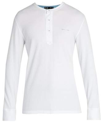 The Upside Santa Fe Cotton Henley Top - Mens - White