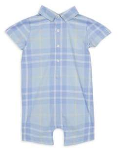 Janie and Jack Baby's Woven Plaid One-Piece