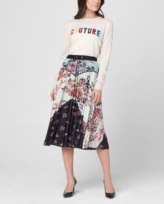 Juicy Couture Engineered Secret Garden Floral Midi Skirt