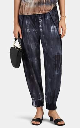 Raquel Allegra Women's Tie-Dyed Cotton-Silk Drawstring Sweatpants