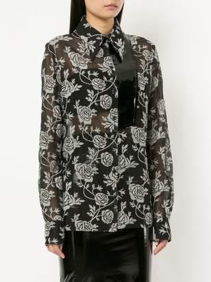 Zambesi floral print sheer shirt