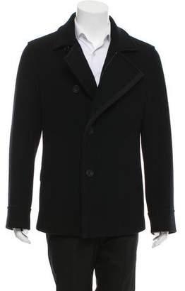 Salvatore Ferragamo Grosgrain-Trimmed Wool Jacket