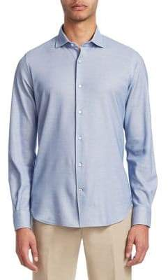 Loro Piana Leisure-Fit Cotton Casual Button-Down Shirt