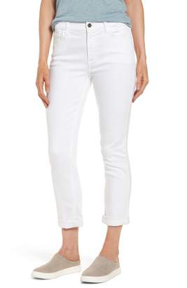 7 For All Mankind JEN7 by Stretch Straight Leg Crop Jeans