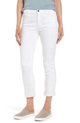 Jen7 Stretch Straight Leg Crop Jeans