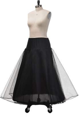 kelaixiang A Line Bridal Petticoat Floor Length Tulle Underskirt Crinoline Slip