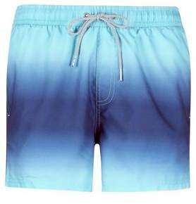 Burton Mens Blue Dip Dye Pull On Swim Shorts