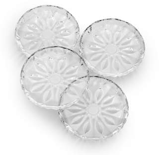 Mikasa Celebrations By Set of 4 Crystal Appetizer Plates