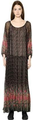Mes Demoiselles Floral Print Viscose Chiffon Dress
