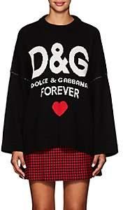 "Dolce & Gabbana Women's ""Forever"" Cashmere Oversized Sweater-Black"