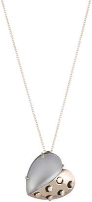 Alexis Bittar Petite Grater Heart Pendant Necklace