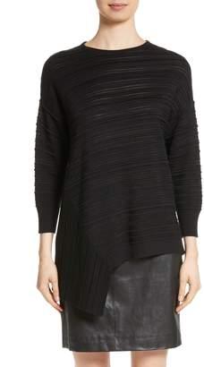 St. John Knit Asymmetrical Sweater