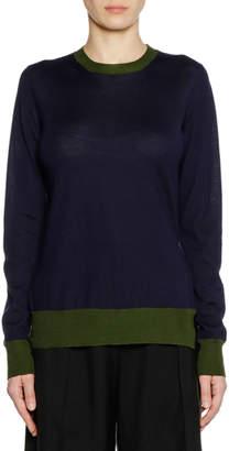 Marni Crewneck Long-Sleeve Cashmere Knit Sweater