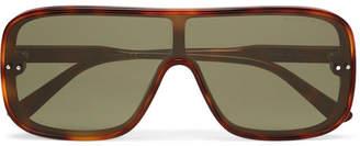 Bottega Veneta Aviator-Style Tortoiseshell Acetate Sunglasses