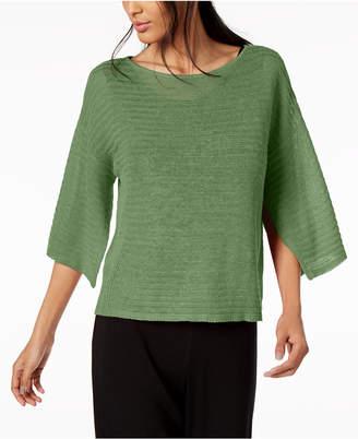 Eileen Fisher Organic Linen Handkerchief-Sleeve Sweater