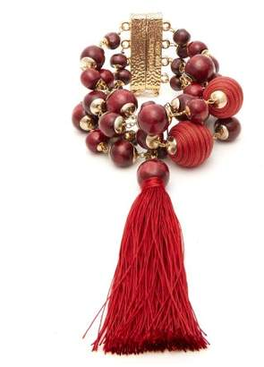 Rosantica By Michela Panero - Colonia Bead And Tassel Wrap Bracelet - Womens - Red
