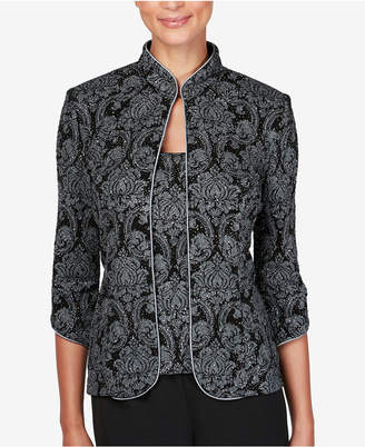 Alex Evenings Petite Printed Jacket & Top Set