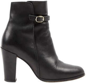 Vanessa Seward Black Leather Ankle boots