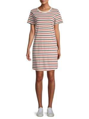 Current/Elliott Beatnik Striped Cotton T-Shirt Dress
