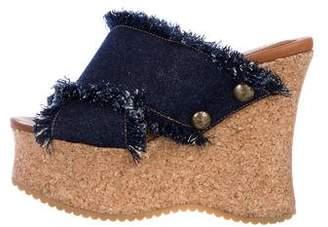 See by Chloe Denim Wedge Sandals