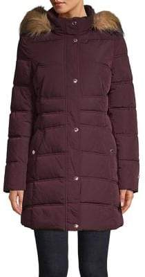 Tommy Hilfiger Faux Fur Hooded Puffer Coat