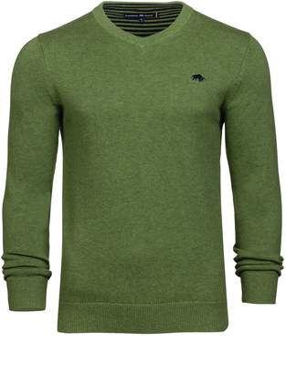 Men's Raging Bull Big and Tall V-Neck CottCash Sweater