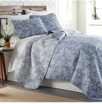 Southshore Fine Linens Perfect Paisley Lightweight Reversible Quilt and Sham Set, King/California King Bedding