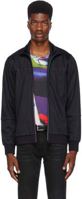 Paul Smith Navy Multistripe Zip Sweater