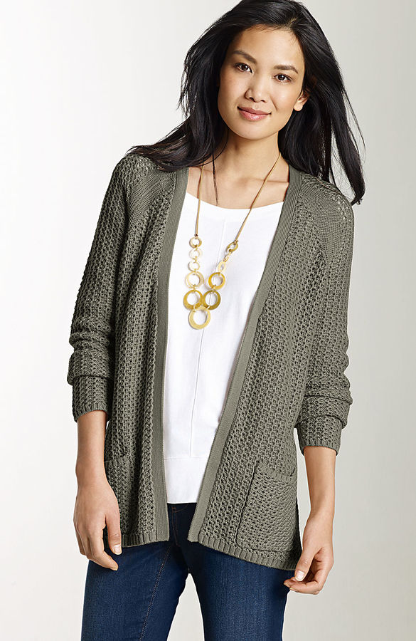 J. Jill Elliptical textured cardigan