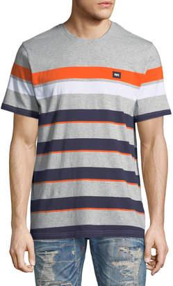 PRPS Men's Multicolor Striped T-Shirt