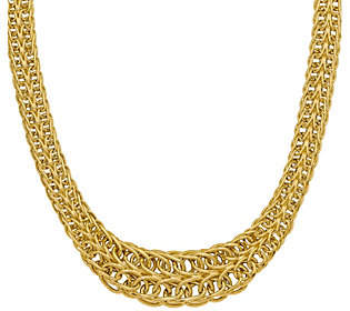 QVC 14K Gold Figure-Eight Link Necklace, 20.7g