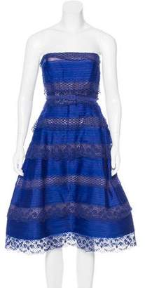 Oscar de la Renta Silk Strapless Dress