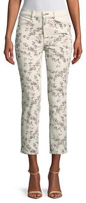 Rag & Bone Floral-Print Cigarette-Fit Cotton Cropped Pants