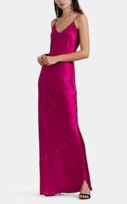 Nili Lotan Women's Silk Charmeuse Slip Gown - Fuchsia
