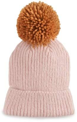 Steve Madden Nyc Women's NYC Oversized Yarn Pom Pom Beanie