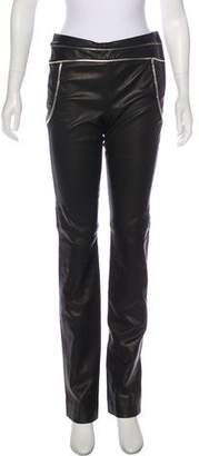 Chanel Mid-Rise Leather Pants w/ Tags