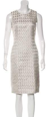 Alexander McQueen Silk Jacquard Sheath Dress