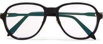 Victoria Beckham D-frame Acetate Optical Glasses - Black