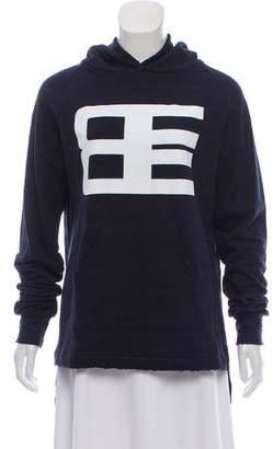 Baja East Logo Printed Hooded Sweatshirt