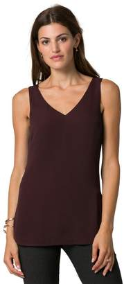 Le Château Women's V-Back Sleeveless Shell Blouse,L